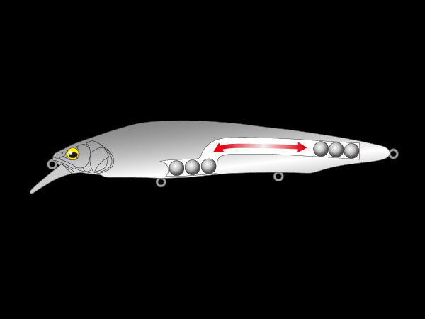 トリプルタングステンの重心移動システムで抜群の飛距離
