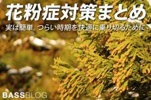「花粉症対策」まとめ。実は簡単にできる。つらい時期を快適に乗り切るために