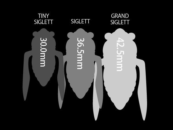 「シグレ」シリーズサイズ比較