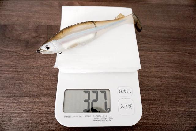 「ステルススイマー」ノーマルウェイトの自重は32.7g。