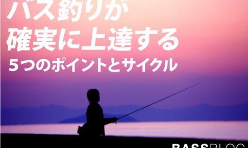 「バス釣り上達方法」バス釣りが確実に上達する5つのポイントとサイクル