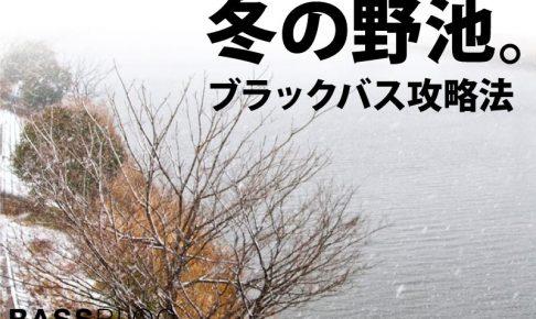 バス釣り「冬の野池」攻略法。釣り方とコツをつかんで、冬バスを釣ろう。