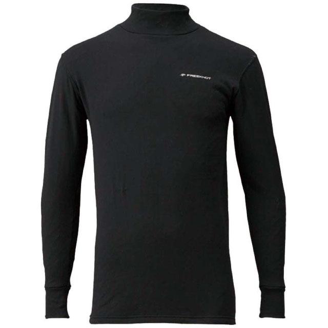 フリーノット(FREE KNOT) レイヤーテック モックネックシャツ ストレッチ厚手